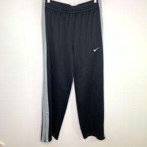 Nike Dri Fit Lg Black Lightweight Track Sweatpants